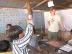 volunteers teaching at CDO